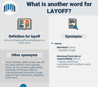 layoff, synonym layoff, another word for layoff, words like layoff, thesaurus layoff