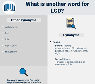 lcd, synonym lcd, another word for lcd, words like lcd, thesaurus lcd