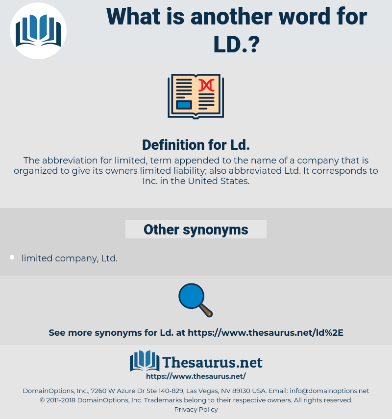 ld, synonym ld, another word for ld, words like ld, thesaurus ld