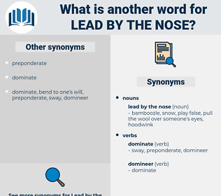 lead by the nose, synonym lead by the nose, another word for lead by the nose, words like lead by the nose, thesaurus lead by the nose