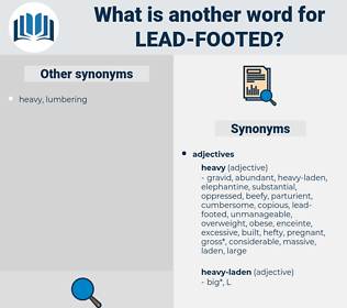 lead-footed, synonym lead-footed, another word for lead-footed, words like lead-footed, thesaurus lead-footed