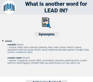 lead-in, synonym lead-in, another word for lead-in, words like lead-in, thesaurus lead-in