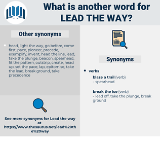 lead the way, synonym lead the way, another word for lead the way, words like lead the way, thesaurus lead the way