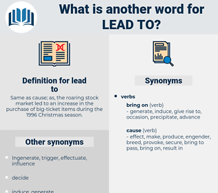 lead to, synonym lead to, another word for lead to, words like lead to, thesaurus lead to