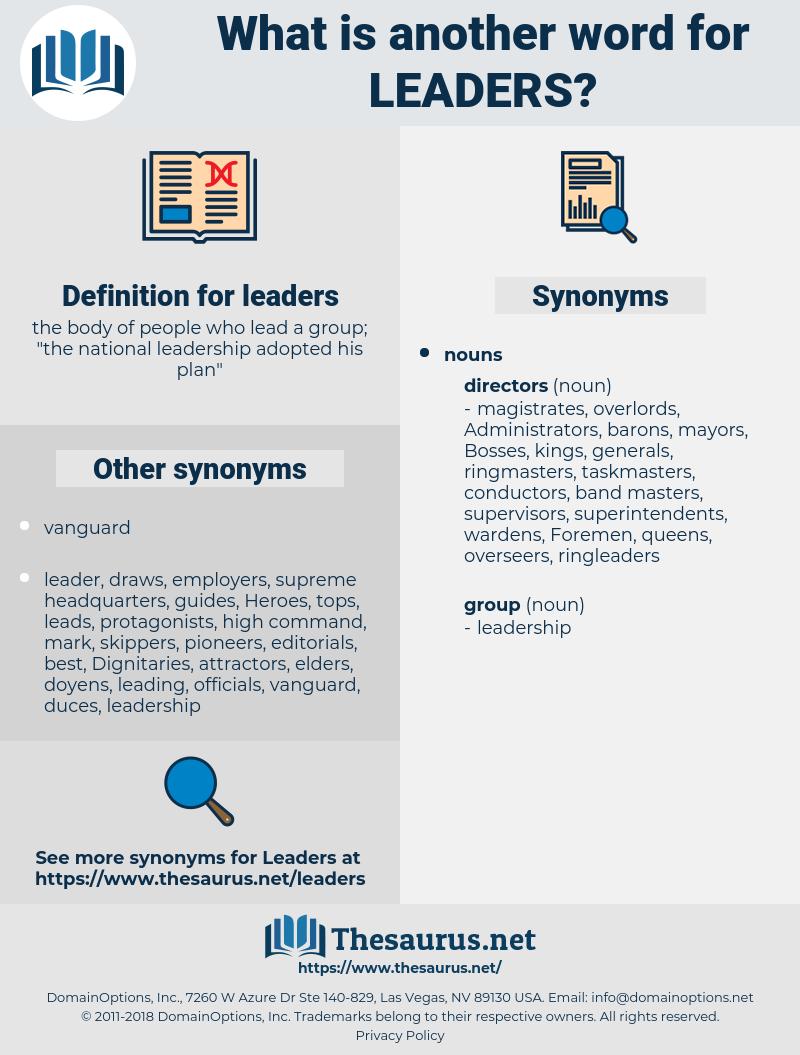 leaders, synonym leaders, another word for leaders, words like leaders, thesaurus leaders