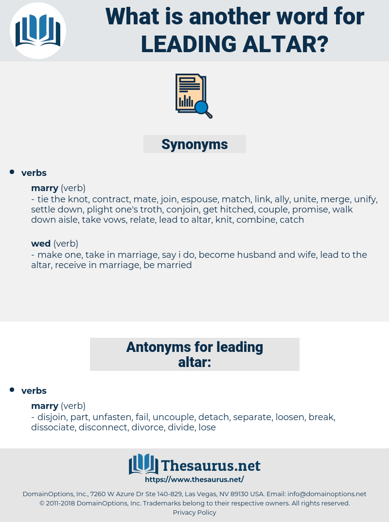 leading altar, synonym leading altar, another word for leading altar, words like leading altar, thesaurus leading altar
