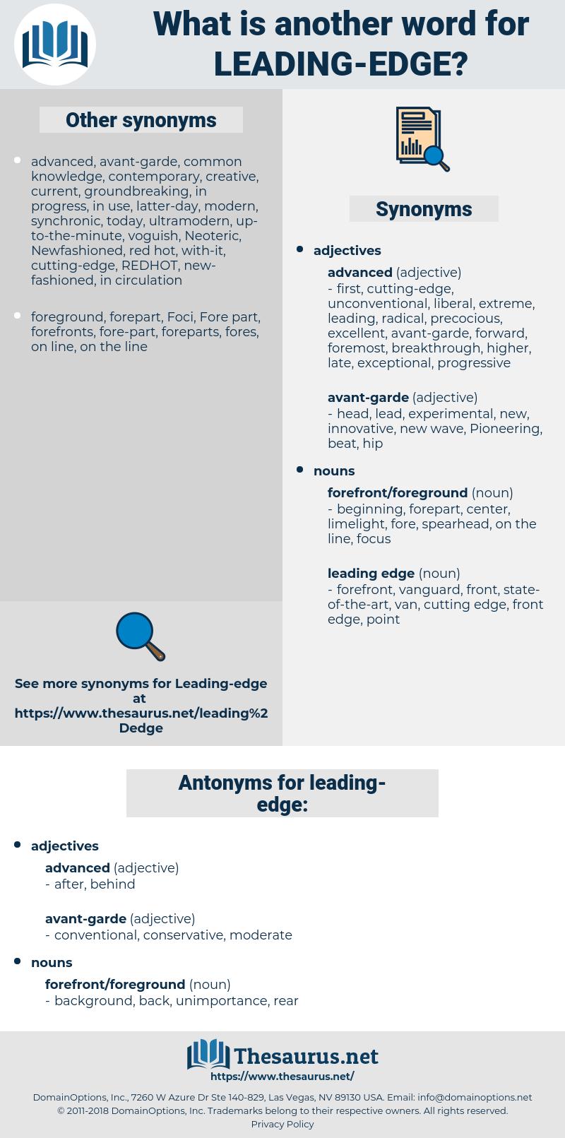 leading-edge, synonym leading-edge, another word for leading-edge, words like leading-edge, thesaurus leading-edge