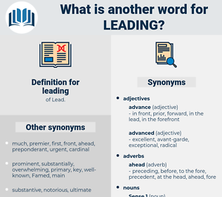 leading, synonym leading, another word for leading, words like leading, thesaurus leading