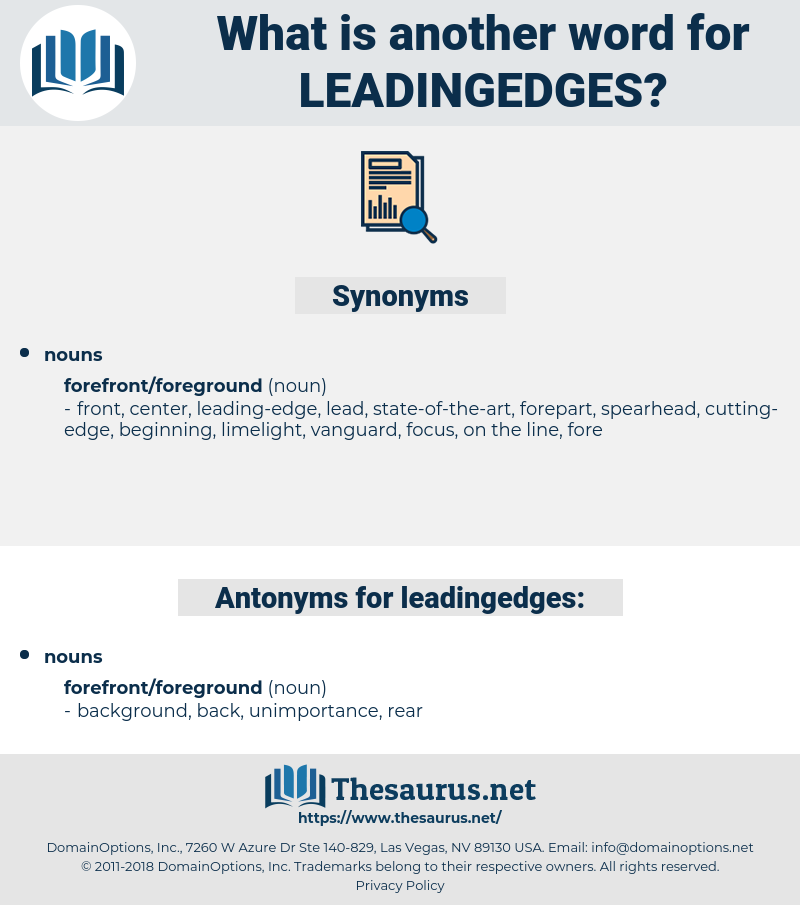 leadingedges, synonym leadingedges, another word for leadingedges, words like leadingedges, thesaurus leadingedges
