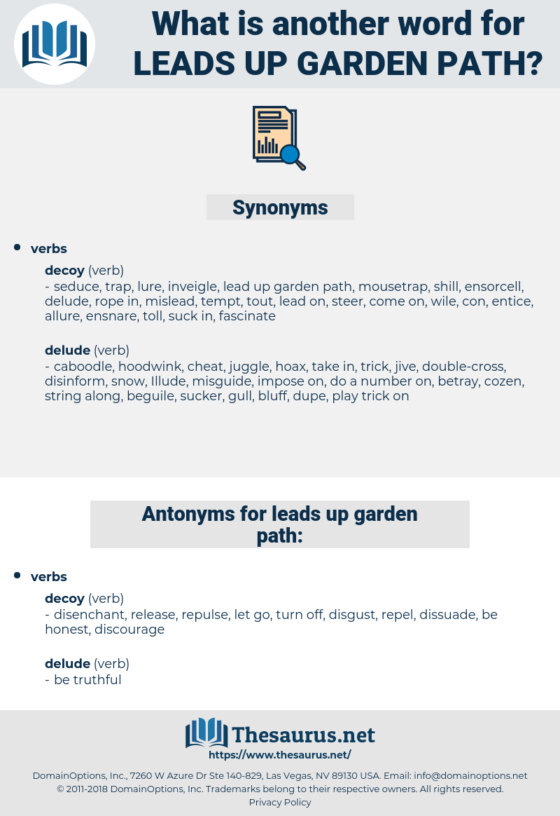 leads up garden path, synonym leads up garden path, another word for leads up garden path, words like leads up garden path, thesaurus leads up garden path