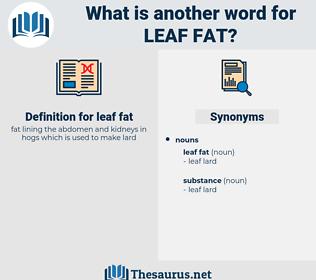 leaf fat, synonym leaf fat, another word for leaf fat, words like leaf fat, thesaurus leaf fat