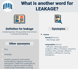 leakage, synonym leakage, another word for leakage, words like leakage, thesaurus leakage