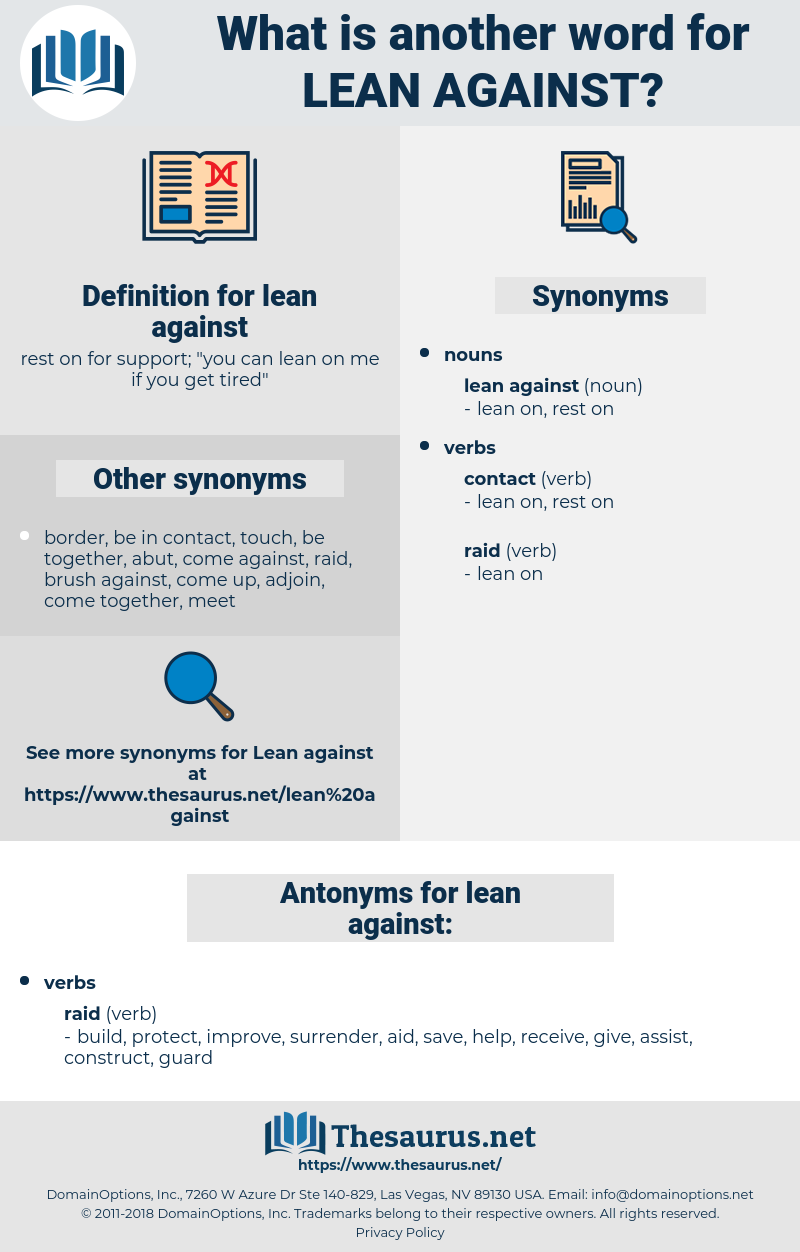 lean against, synonym lean against, another word for lean against, words like lean against, thesaurus lean against