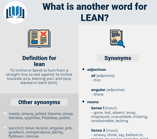lean, synonym lean, another word for lean, words like lean, thesaurus lean