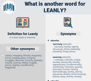 Leanly, synonym Leanly, another word for Leanly, words like Leanly, thesaurus Leanly
