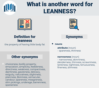 leanness, synonym leanness, another word for leanness, words like leanness, thesaurus leanness