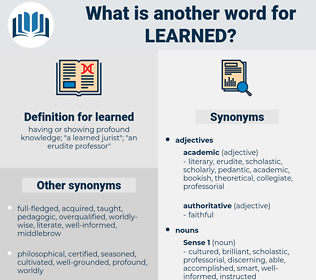 learned, synonym learned, another word for learned, words like learned, thesaurus learned