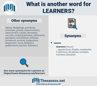 learners, synonym learners, another word for learners, words like learners, thesaurus learners