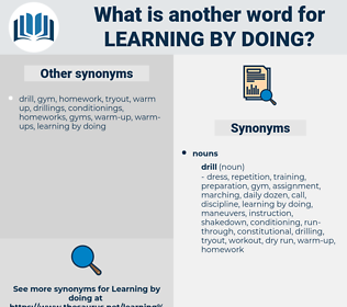 learning by doing, synonym learning by doing, another word for learning by doing, words like learning by doing, thesaurus learning by doing