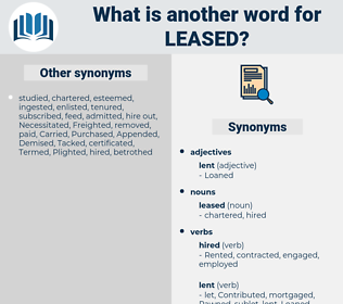 leased, synonym leased, another word for leased, words like leased, thesaurus leased