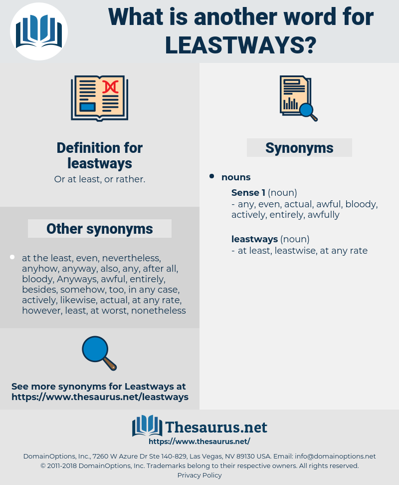 leastways, synonym leastways, another word for leastways, words like leastways, thesaurus leastways