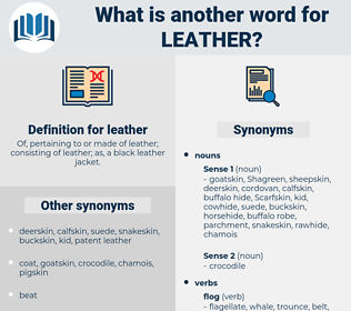 leather, synonym leather, another word for leather, words like leather, thesaurus leather