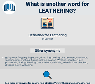 Leathering, synonym Leathering, another word for Leathering, words like Leathering, thesaurus Leathering