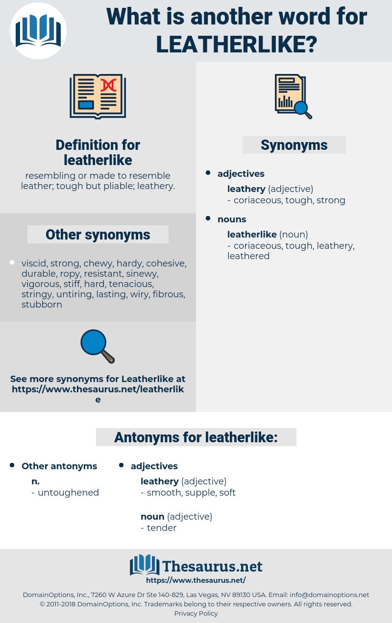 leatherlike, synonym leatherlike, another word for leatherlike, words like leatherlike, thesaurus leatherlike