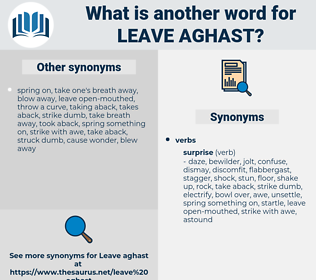 leave aghast, synonym leave aghast, another word for leave aghast, words like leave aghast, thesaurus leave aghast