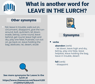 leave in the lurch, synonym leave in the lurch, another word for leave in the lurch, words like leave in the lurch, thesaurus leave in the lurch