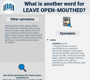 leave open mouthed, synonym leave open mouthed, another word for leave open mouthed, words like leave open mouthed, thesaurus leave open mouthed