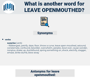 leave openmouthed, synonym leave openmouthed, another word for leave openmouthed, words like leave openmouthed, thesaurus leave openmouthed