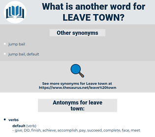 leave town, synonym leave town, another word for leave town, words like leave town, thesaurus leave town
