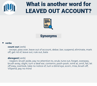 leaved out account, synonym leaved out account, another word for leaved out account, words like leaved out account, thesaurus leaved out account