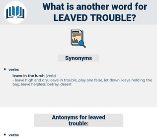 leaved trouble, synonym leaved trouble, another word for leaved trouble, words like leaved trouble, thesaurus leaved trouble