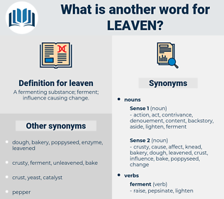 leaven, synonym leaven, another word for leaven, words like leaven, thesaurus leaven