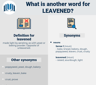 leavened, synonym leavened, another word for leavened, words like leavened, thesaurus leavened