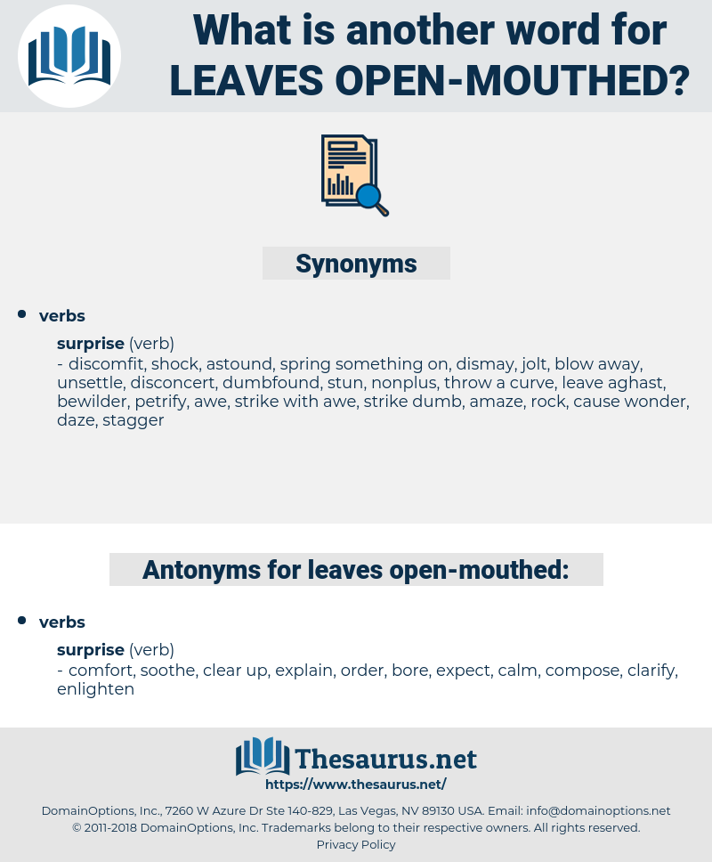 leaves open-mouthed, synonym leaves open-mouthed, another word for leaves open-mouthed, words like leaves open-mouthed, thesaurus leaves open-mouthed