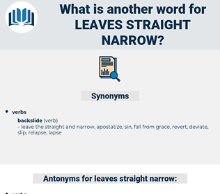 leaves straight narrow, synonym leaves straight narrow, another word for leaves straight narrow, words like leaves straight narrow, thesaurus leaves straight narrow