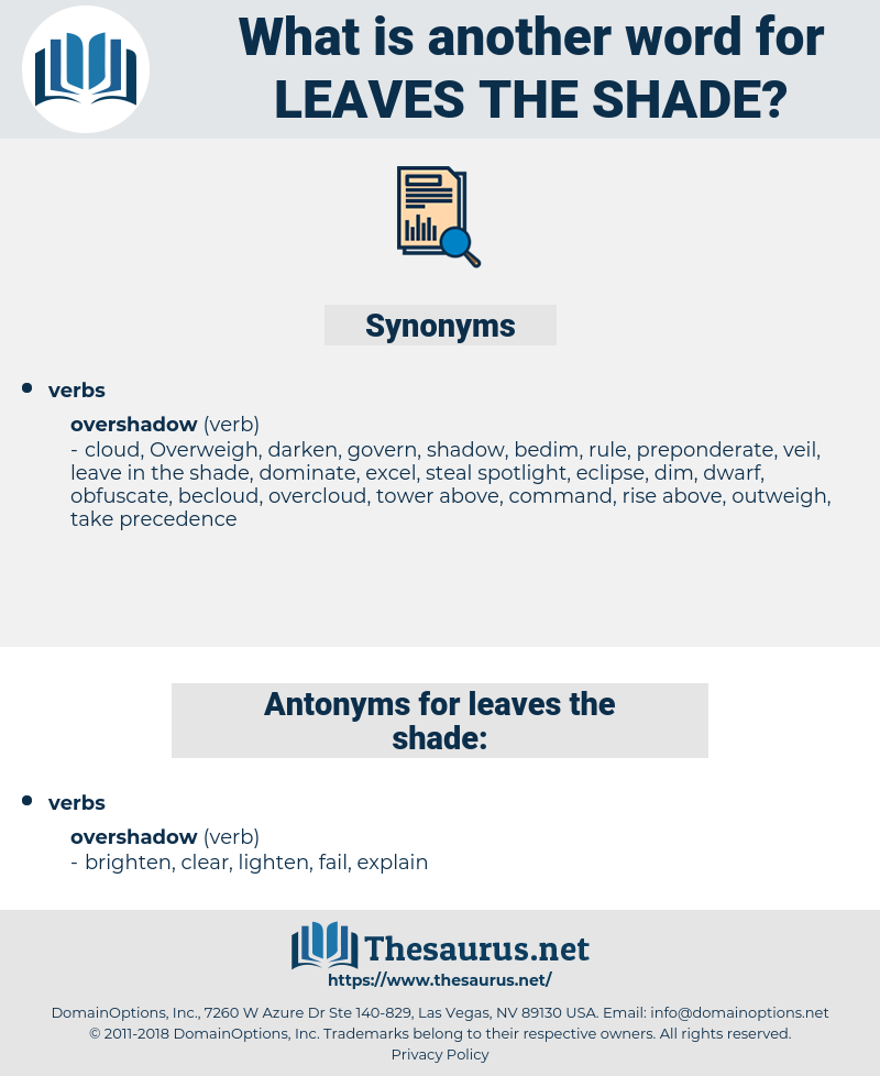 leaves the shade, synonym leaves the shade, another word for leaves the shade, words like leaves the shade, thesaurus leaves the shade
