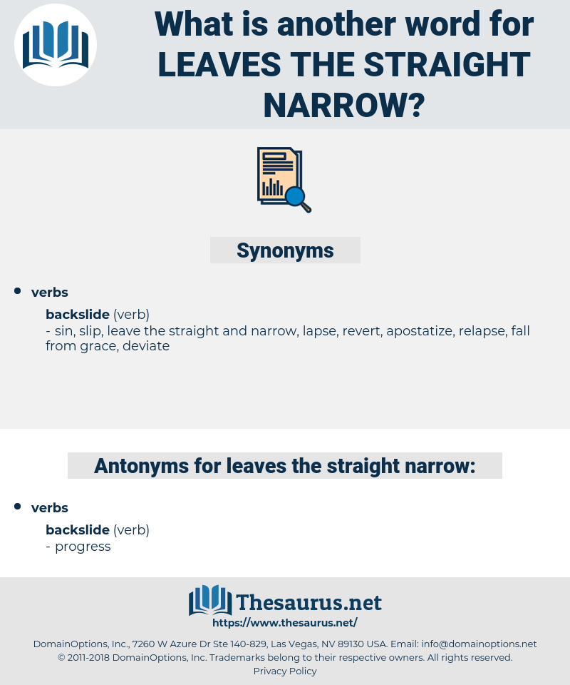 leaves the straight narrow, synonym leaves the straight narrow, another word for leaves the straight narrow, words like leaves the straight narrow, thesaurus leaves the straight narrow