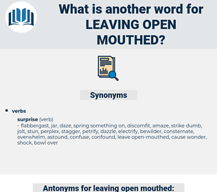leaving open mouthed, synonym leaving open mouthed, another word for leaving open mouthed, words like leaving open mouthed, thesaurus leaving open mouthed