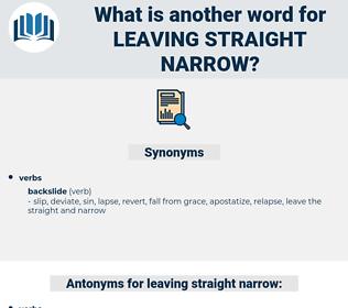 leaving straight narrow, synonym leaving straight narrow, another word for leaving straight narrow, words like leaving straight narrow, thesaurus leaving straight narrow