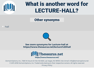 lecture hall, synonym lecture hall, another word for lecture hall, words like lecture hall, thesaurus lecture hall