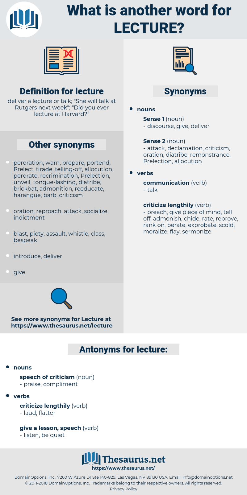 lecture, synonym lecture, another word for lecture, words like lecture, thesaurus lecture