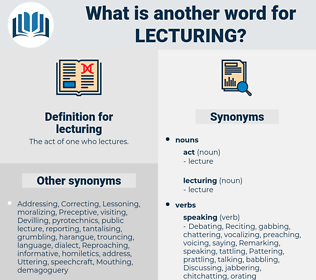 lecturing, synonym lecturing, another word for lecturing, words like lecturing, thesaurus lecturing