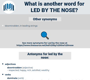 led by the nose, synonym led by the nose, another word for led by the nose, words like led by the nose, thesaurus led by the nose