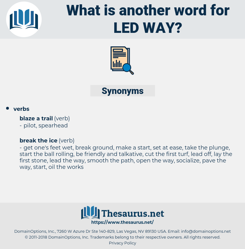 led way, synonym led way, another word for led way, words like led way, thesaurus led way
