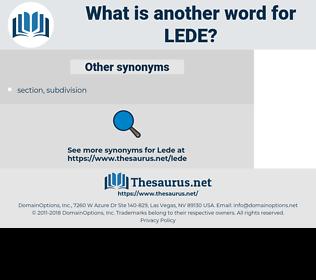 LEDE, synonym LEDE, another word for LEDE, words like LEDE, thesaurus LEDE