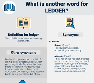 ledger, synonym ledger, another word for ledger, words like ledger, thesaurus ledger